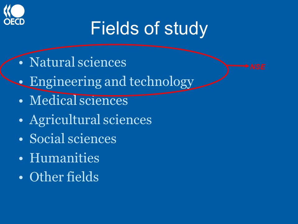 Fields of study Natural sciences Engineering and technology