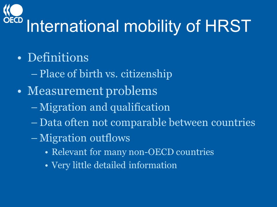 International mobility of HRST