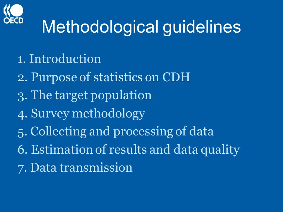 Methodological guidelines