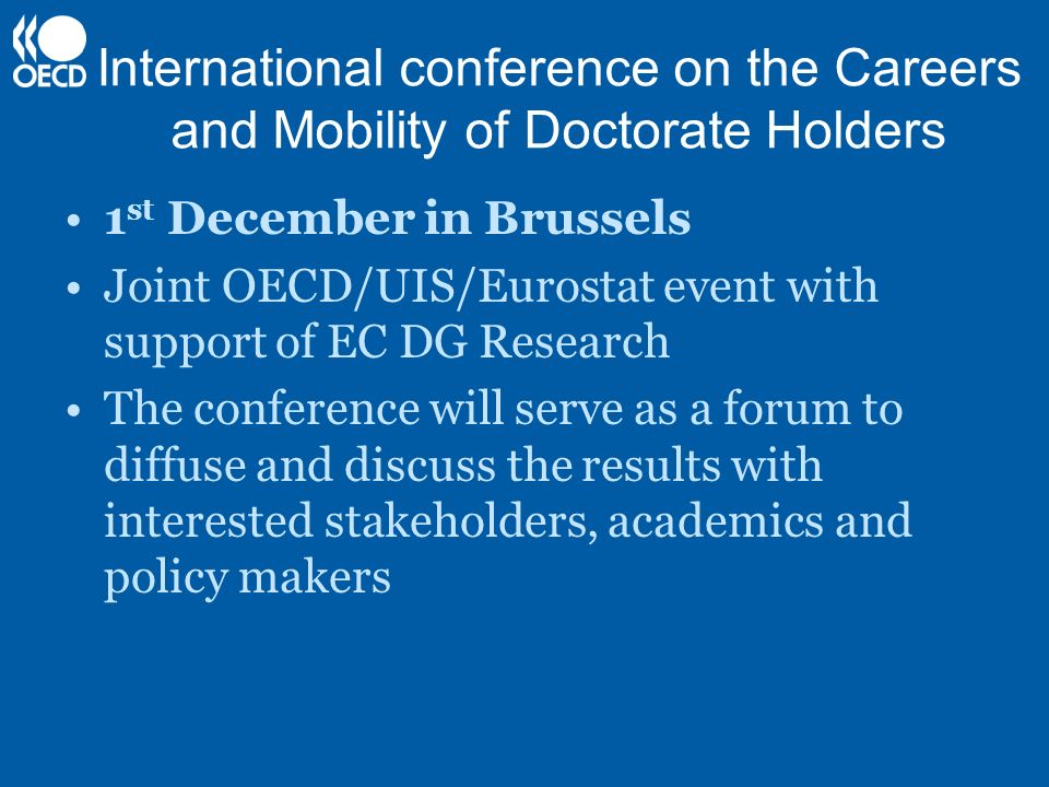 International conference on the Careers and Mobility of Doctorate Holders