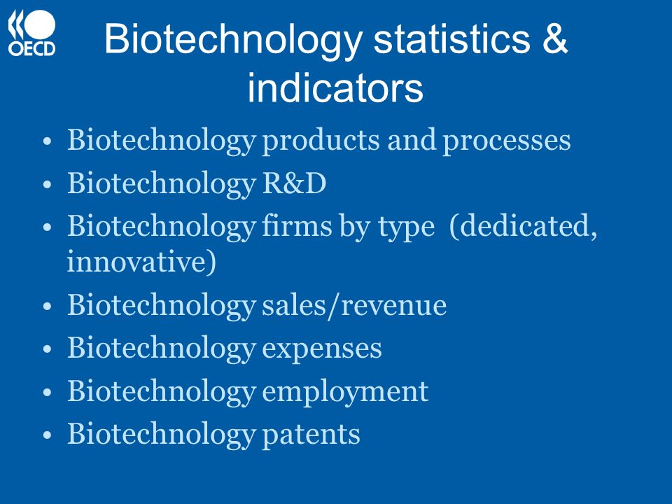 Biotechnology statistics & indicators