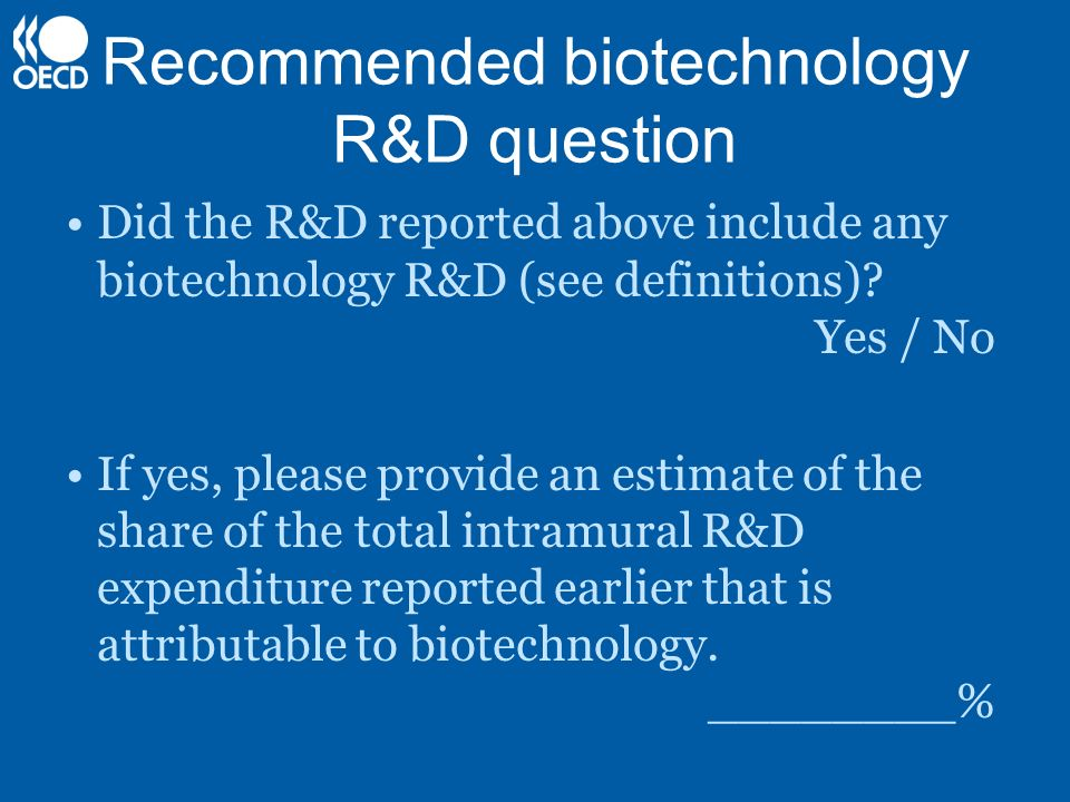 Recommended biotechnology R&D question