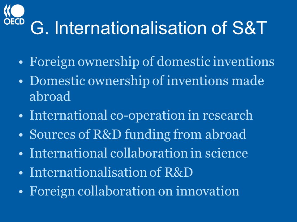 G. Internationalisation of S&T