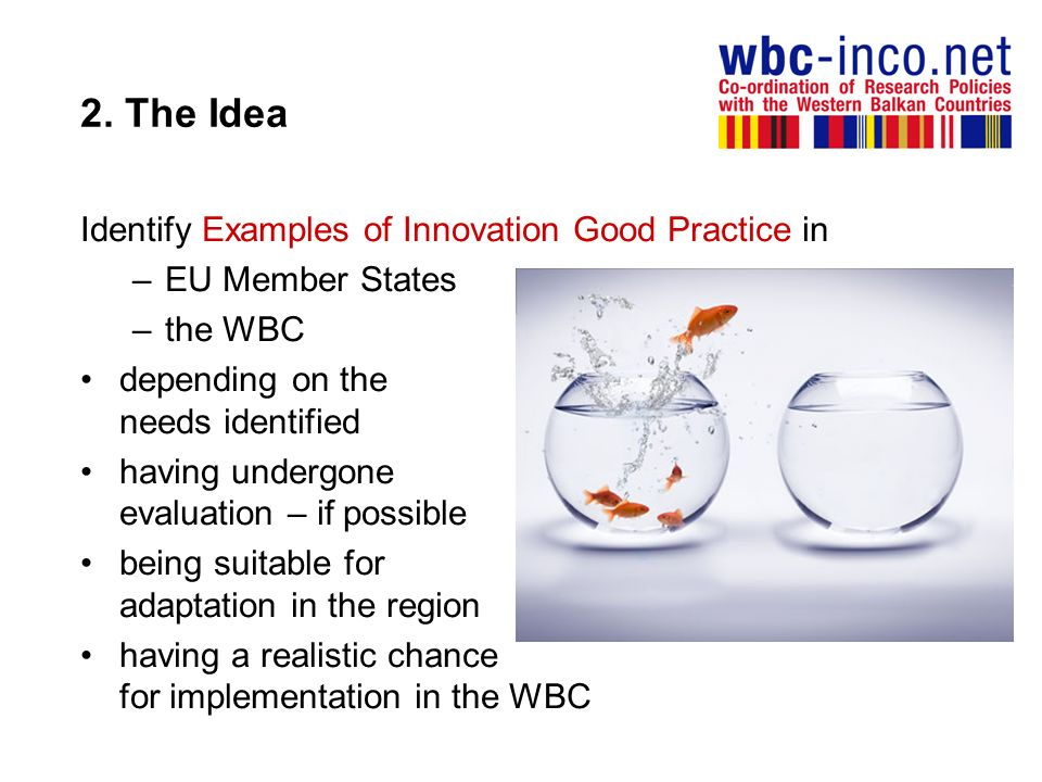 2. The Idea Identify Examples of Innovation Good Practice in