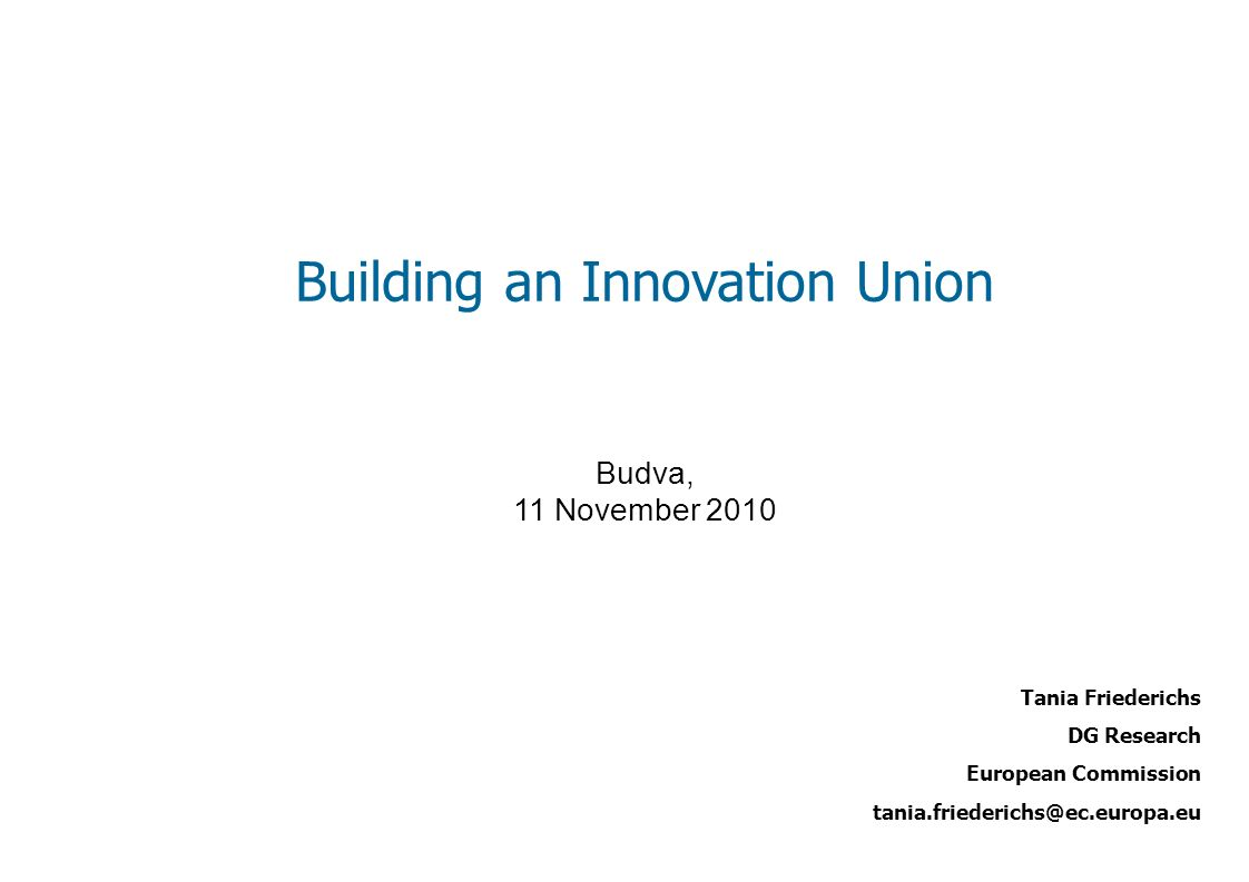 Building an Innovation Union
