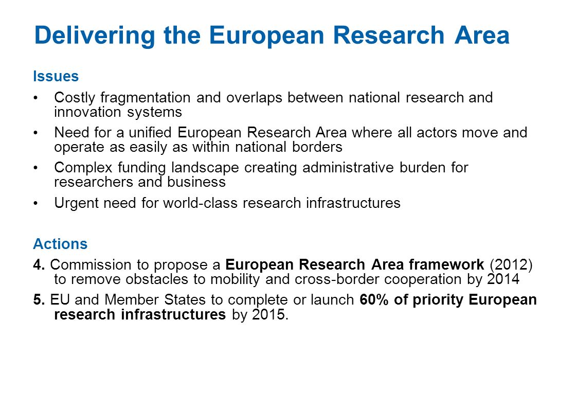 Delivering the European Research Area