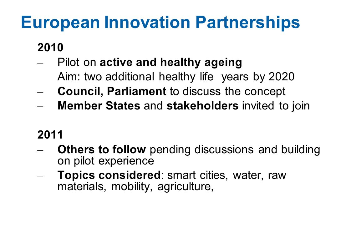 European Innovation Partnerships