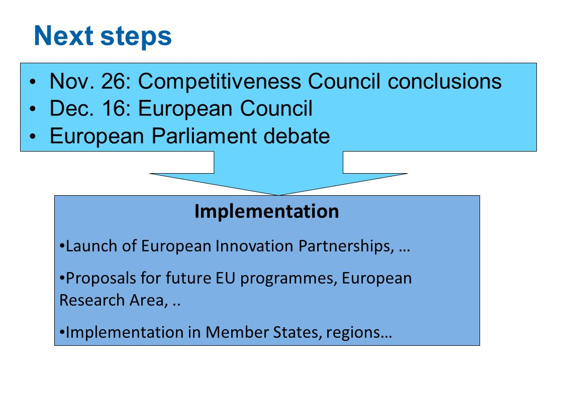Next steps Nov. 26: Competitiveness Council conclusions