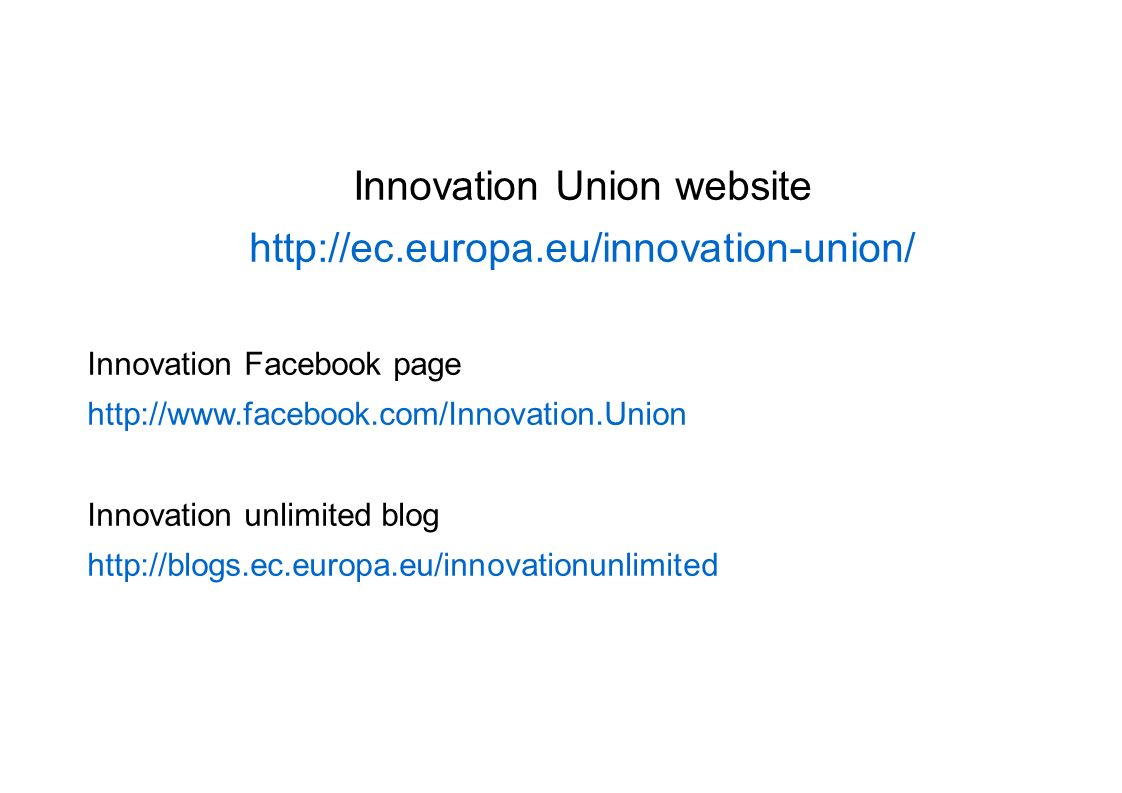 Innovation Union website