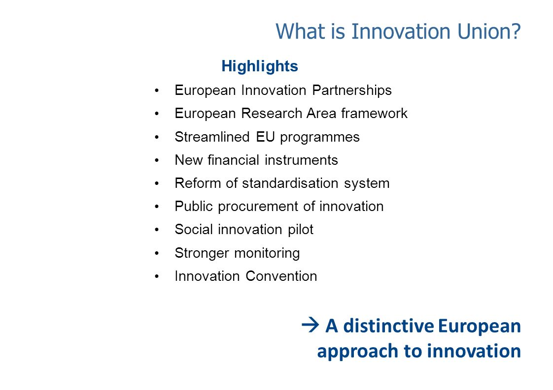 What is Innovation Union