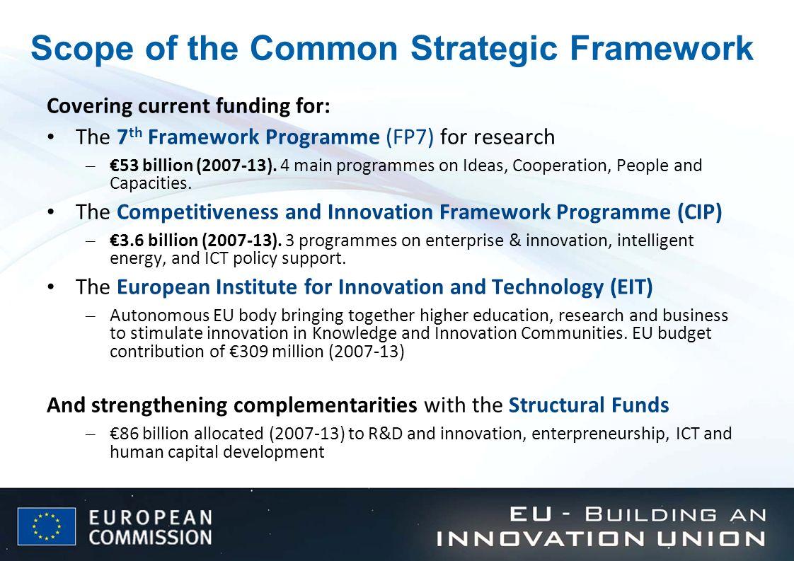 Scope of the Common Strategic Framework