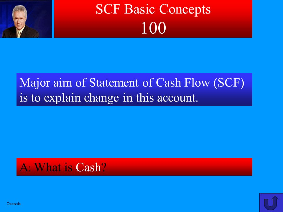 SCF Basic Concepts 100 Major aim of Statement of Cash Flow (SCF) is to explain change in this account.