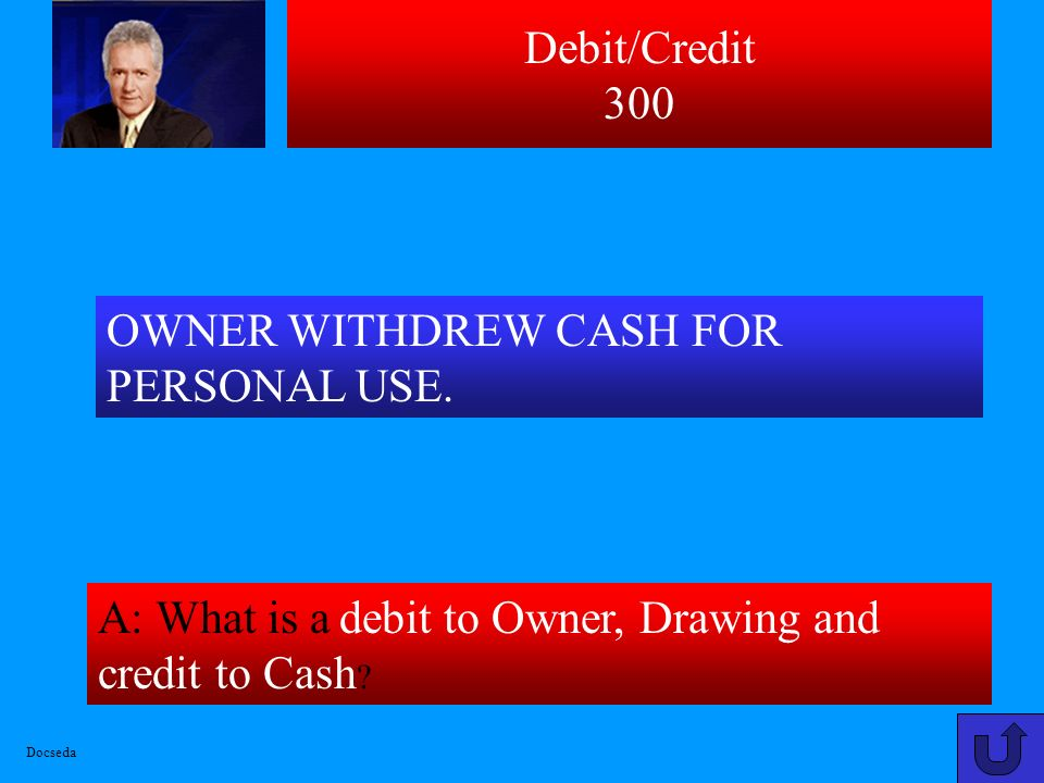 OWNER WITHDREW CASH FOR PERSONAL USE.