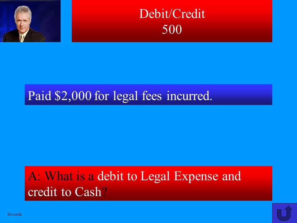 Paid $2,000 for legal fees incurred.