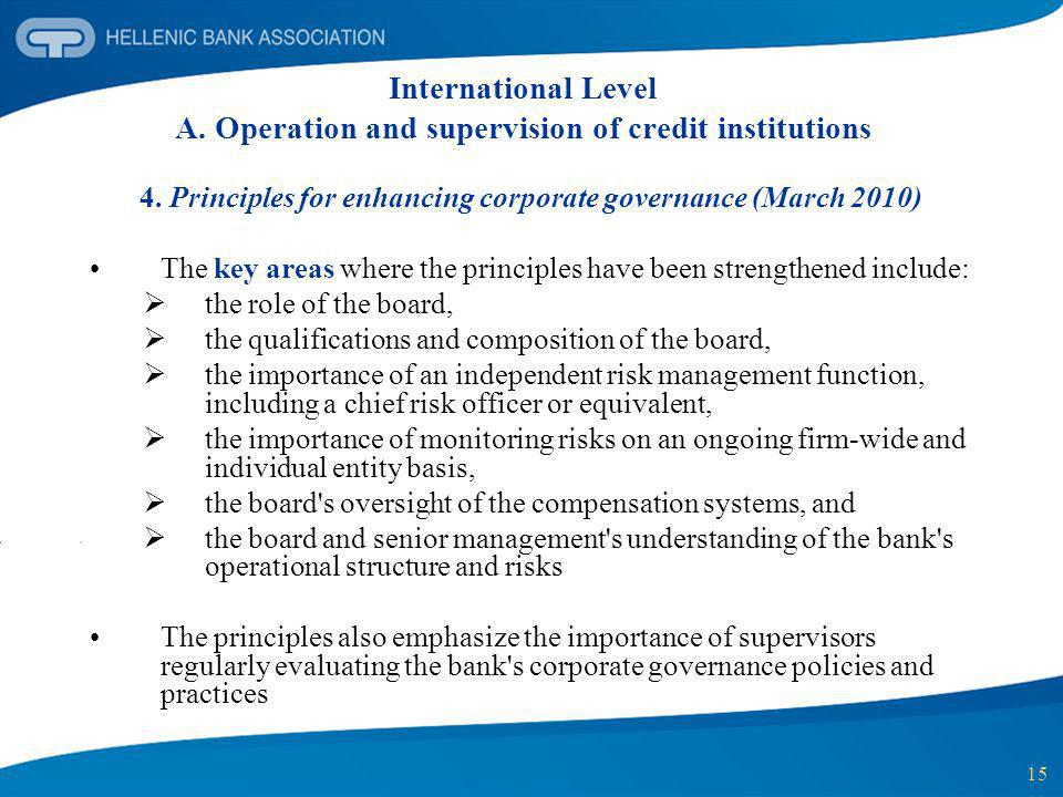 4. Principles for enhancing corporate governance (March 2010)