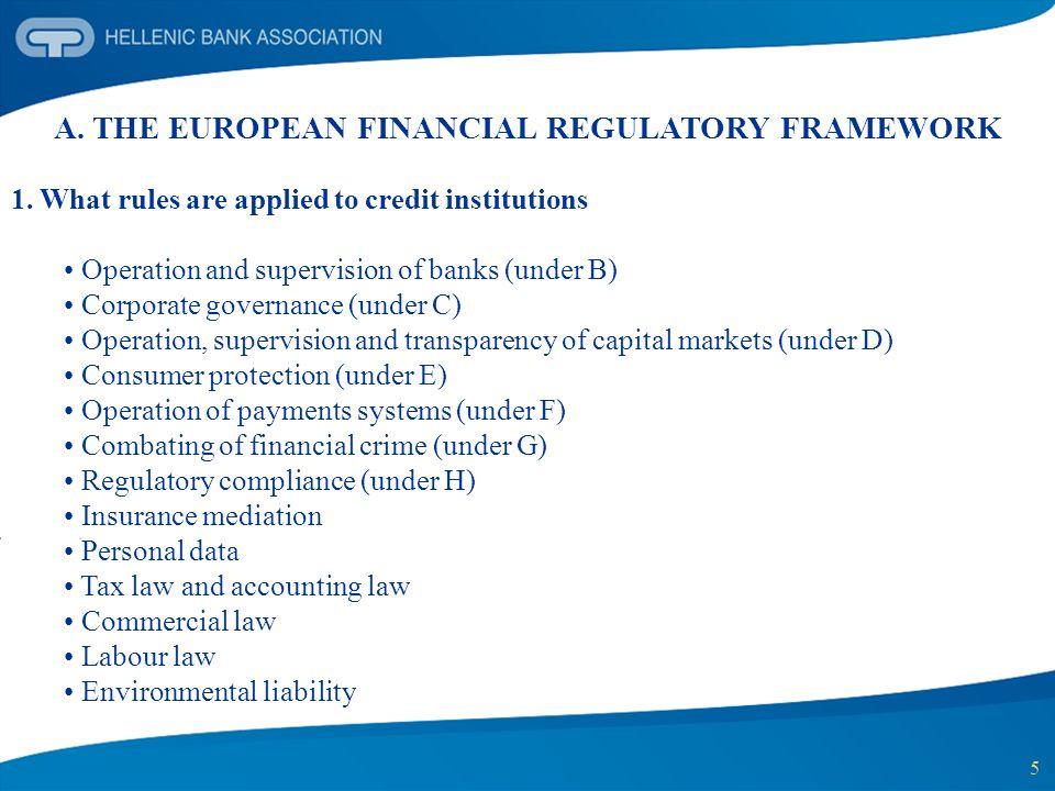 A. THE EUROPEAN FINANCIAL REGULATORY FRAMEWORK
