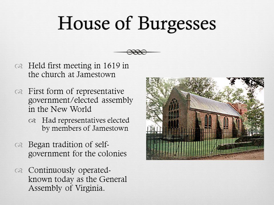 Va house of burgesses 1619 pictures