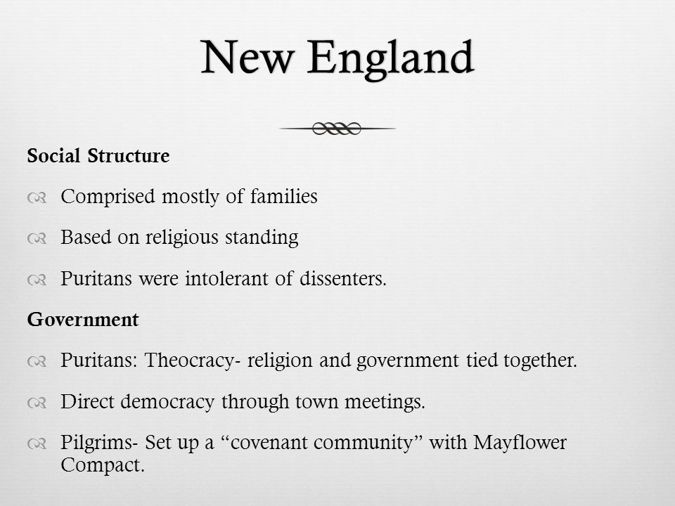the role of religion in the puritan colonies of new england Puritanism in new england:  power and the pulpit in puritan new england  the psychology of puritan religious experience (oxford and new york:.