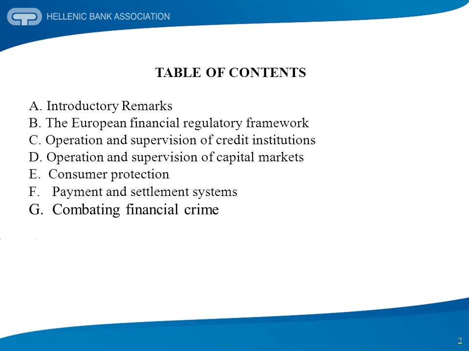 Combating financial crime