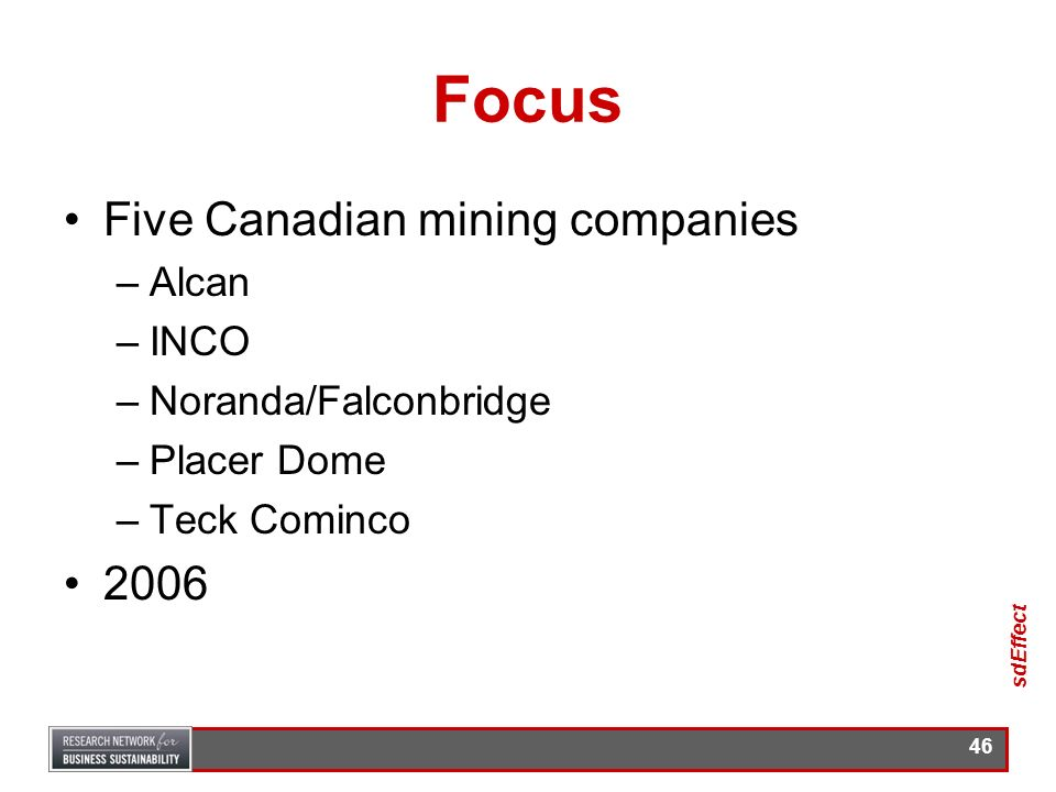 Focus Five Canadian mining companies 2006 Alcan INCO