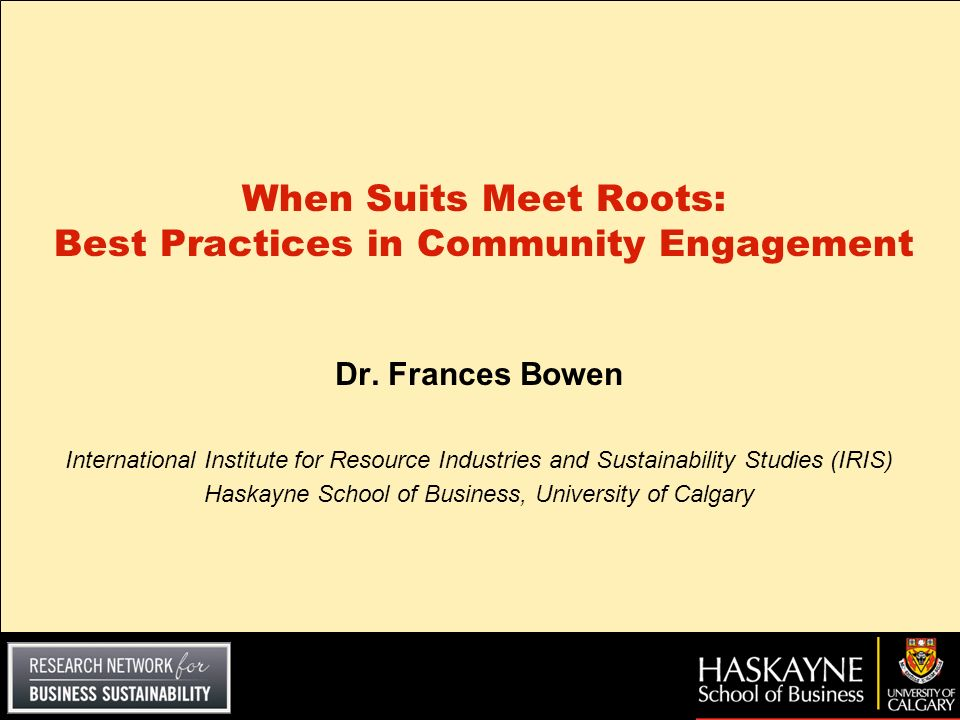 When Suits Meet Roots: Best Practices in Community Engagement