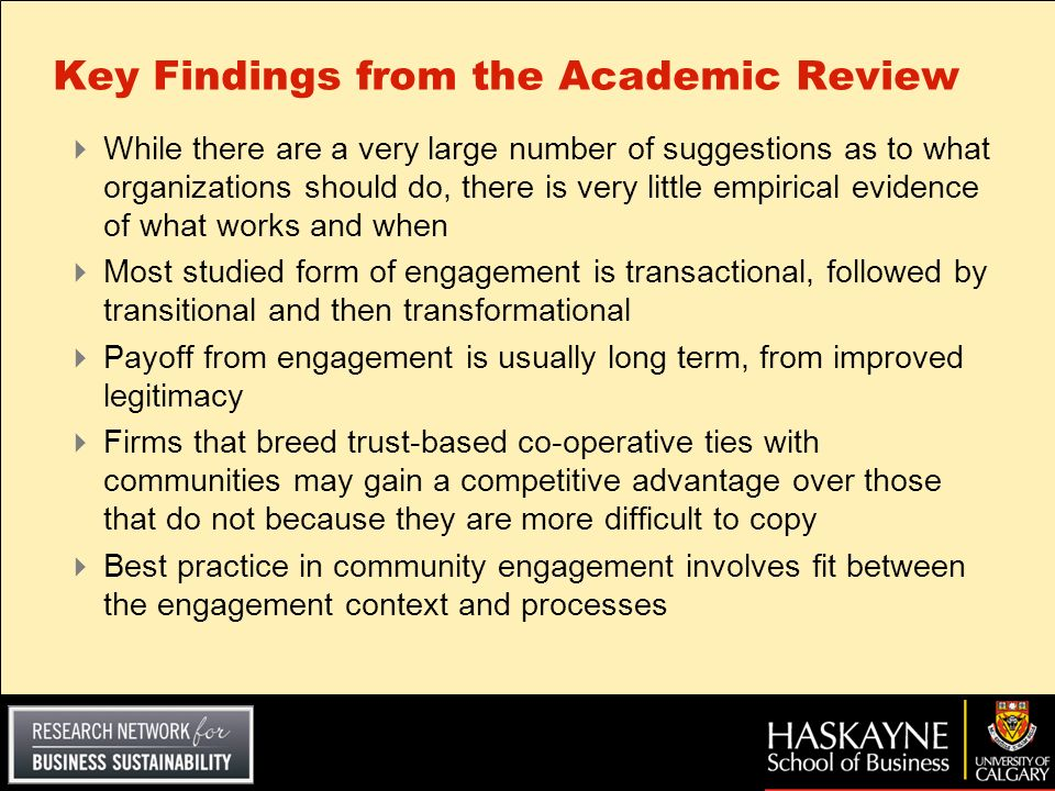 Key Findings from the Academic Review