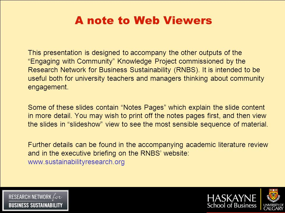 A note to Web Viewers