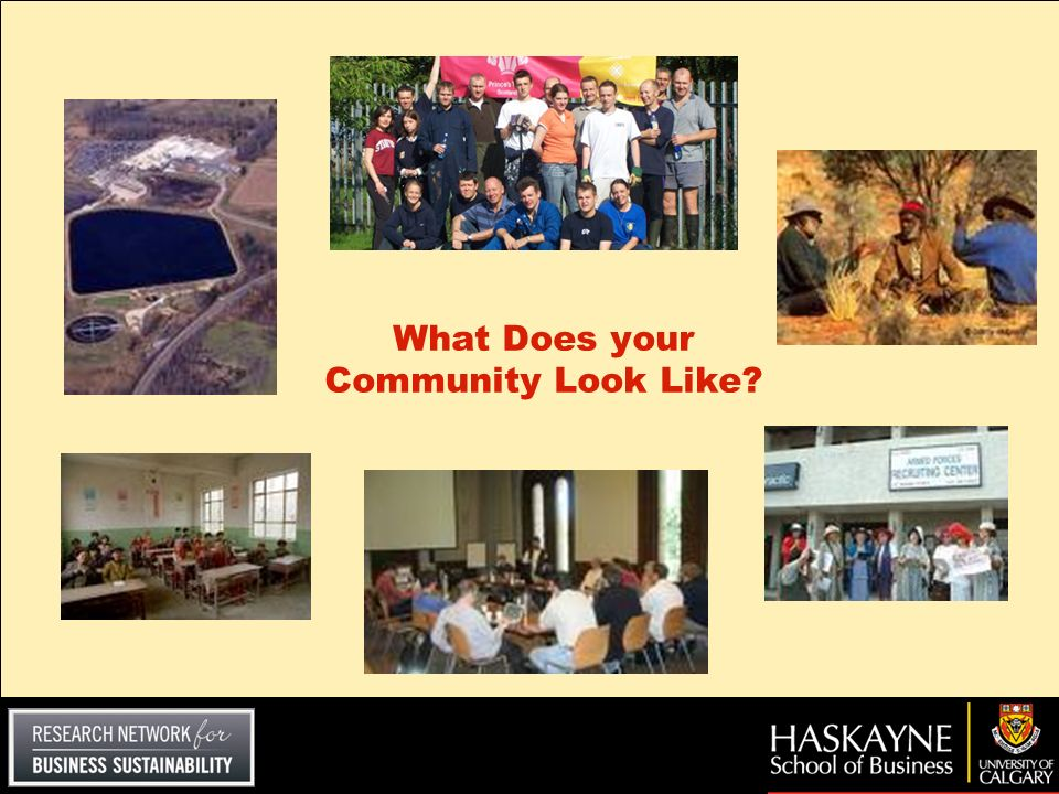 What Does your Community Look Like