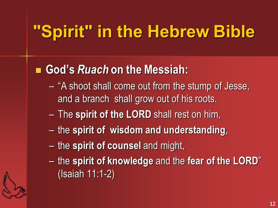 Spirit in the Hebrew Bible