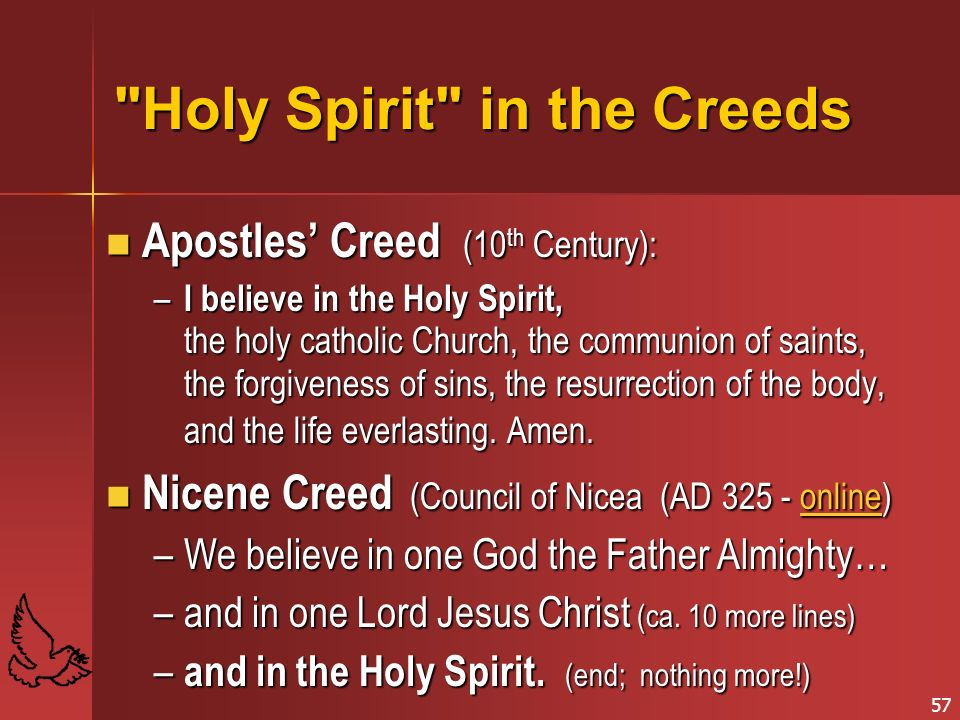 Holy Spirit in the Creeds