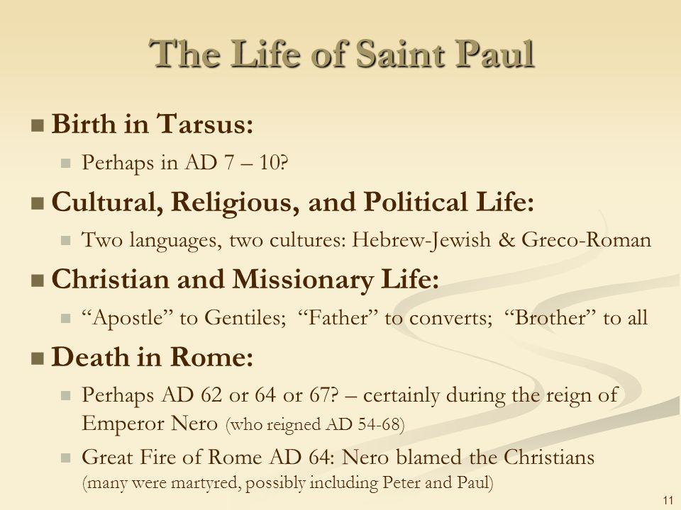 The Life of Saint Paul Birth in Tarsus: