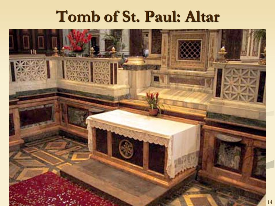 Tomb of St. Paul: Altar