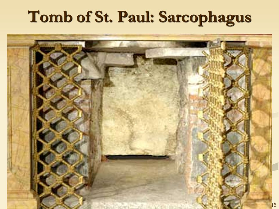 Tomb of St. Paul: Sarcophagus