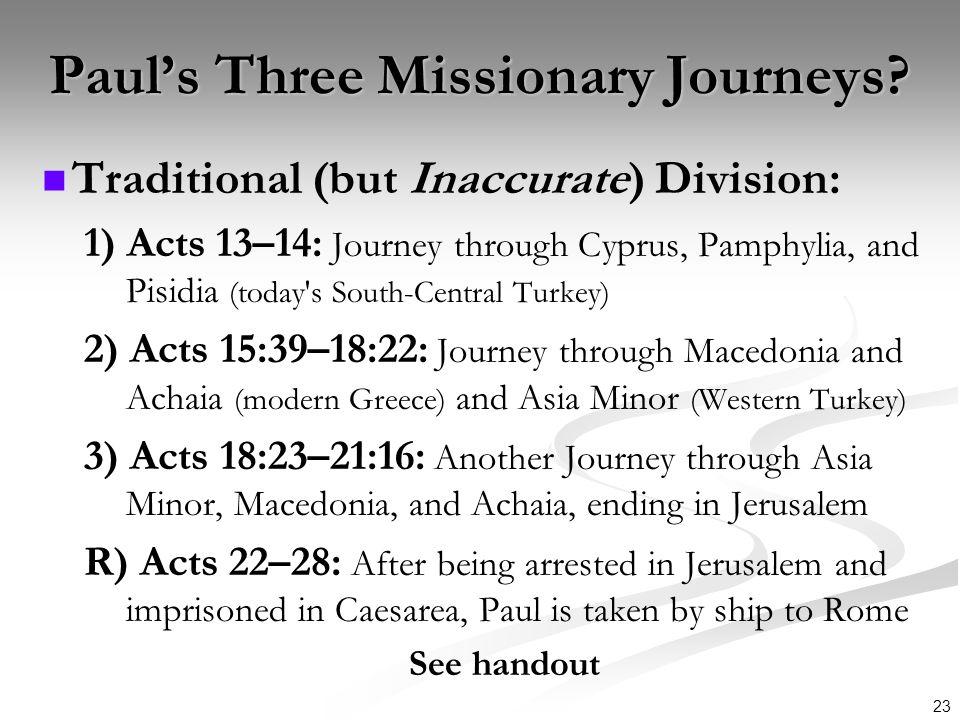 Paul's Three Missionary Journeys