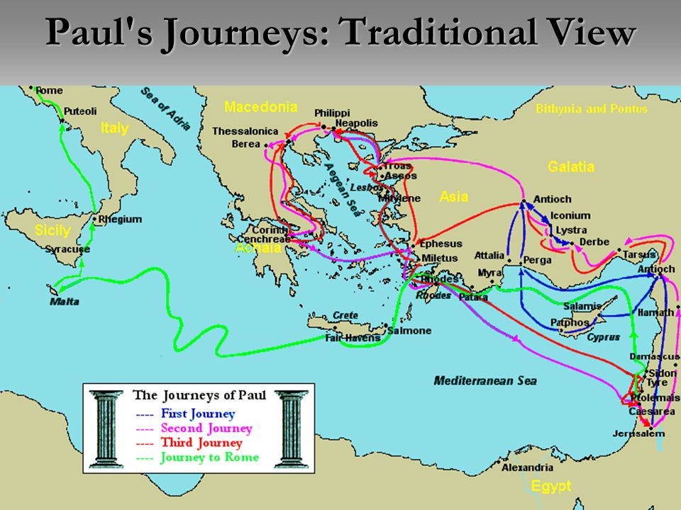 Paul s Journeys: Traditional View
