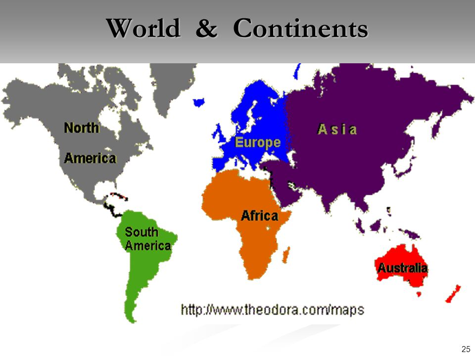 World & Continents