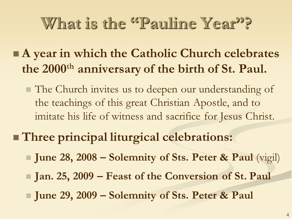 What is the Pauline Year