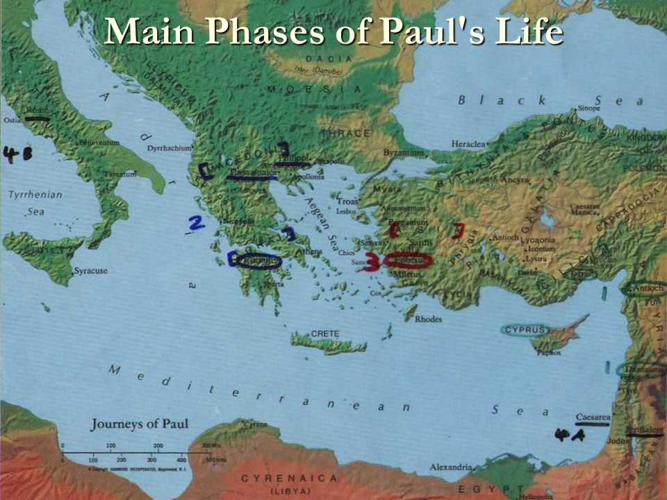 Main Phases of Paul s Life