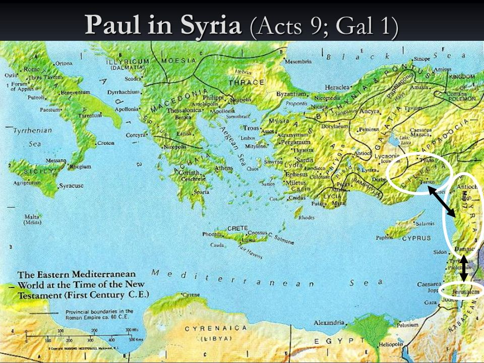 Paul in Syria (Acts 9; Gal 1)
