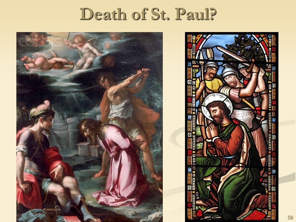 Death of St. Paul