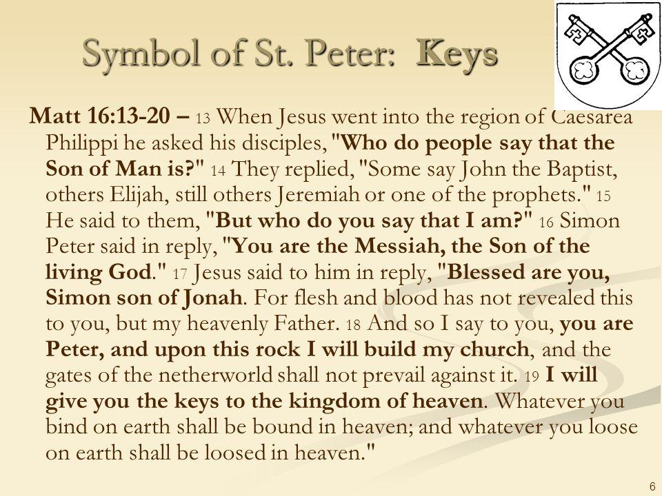Symbol of St. Peter: Keys