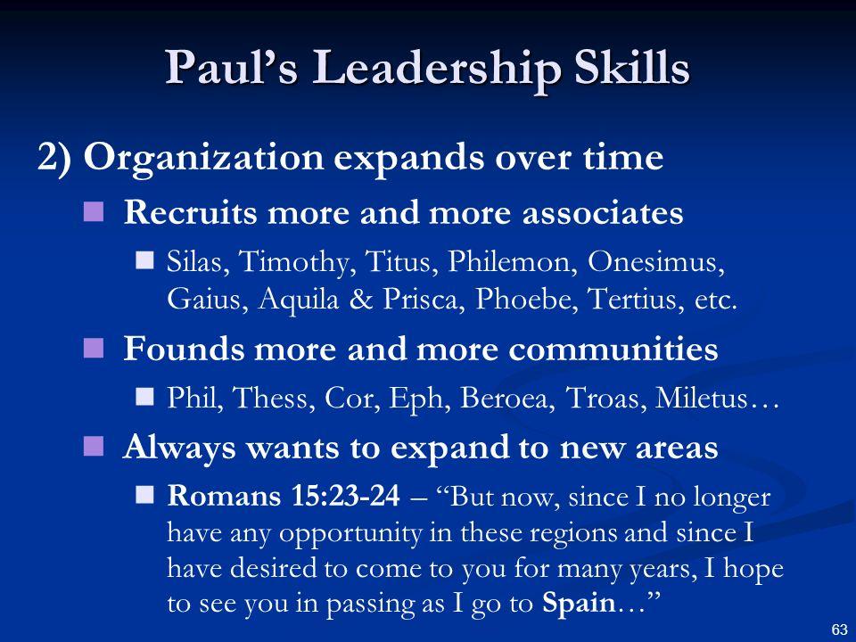 Paul's Leadership Skills