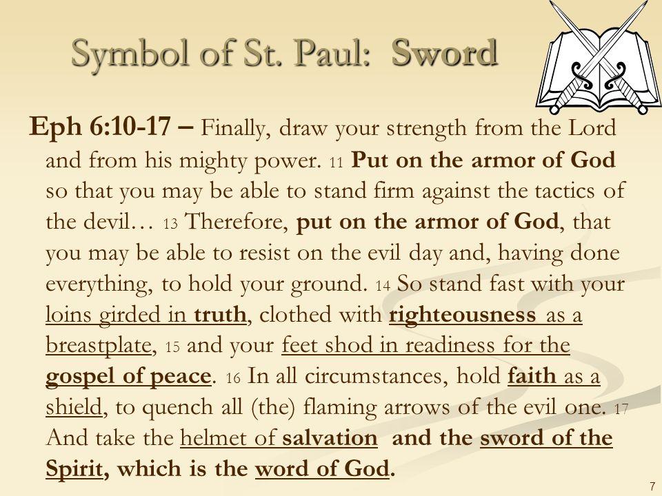Symbol of St. Paul: Sword