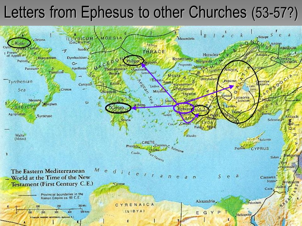 Letters from Ephesus to other Churches (53-57 )
