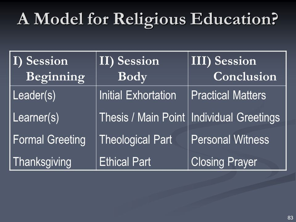 A Model for Religious Education