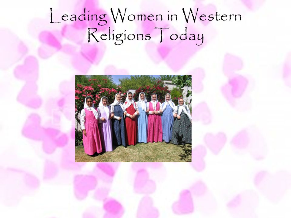 Leading Women in Western Religions Today