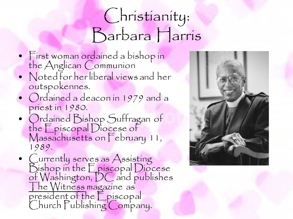 Christianity: Barbara Harris