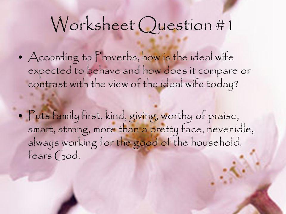 Worksheet Question #1