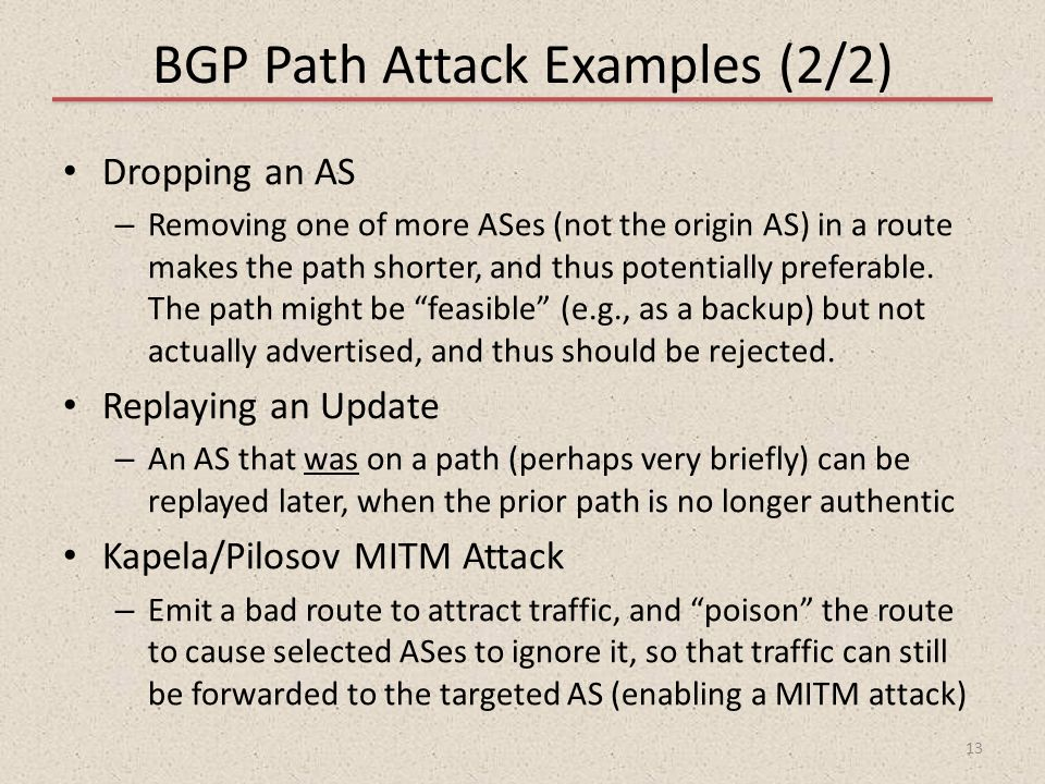 BGP Path Attack Examples (2/2)