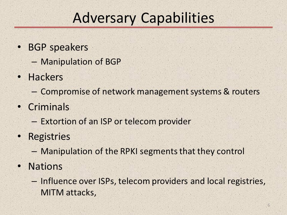 Adversary Capabilities